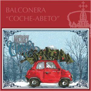 Balconera Navidad Coche Abeto