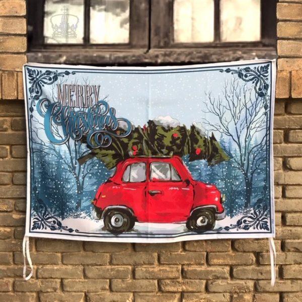 Balconera Navidad coche abeto foto