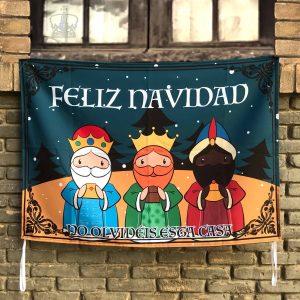 Balconera Reyes Magos Naif en pared